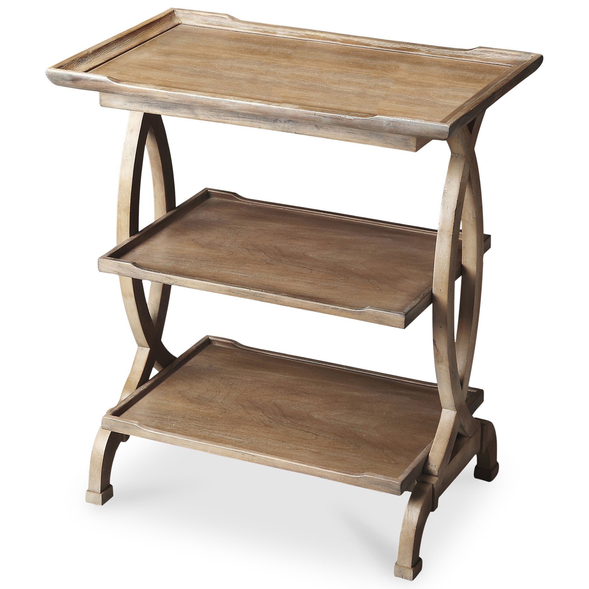 3 Tiered Rustic Farmhouse End Table