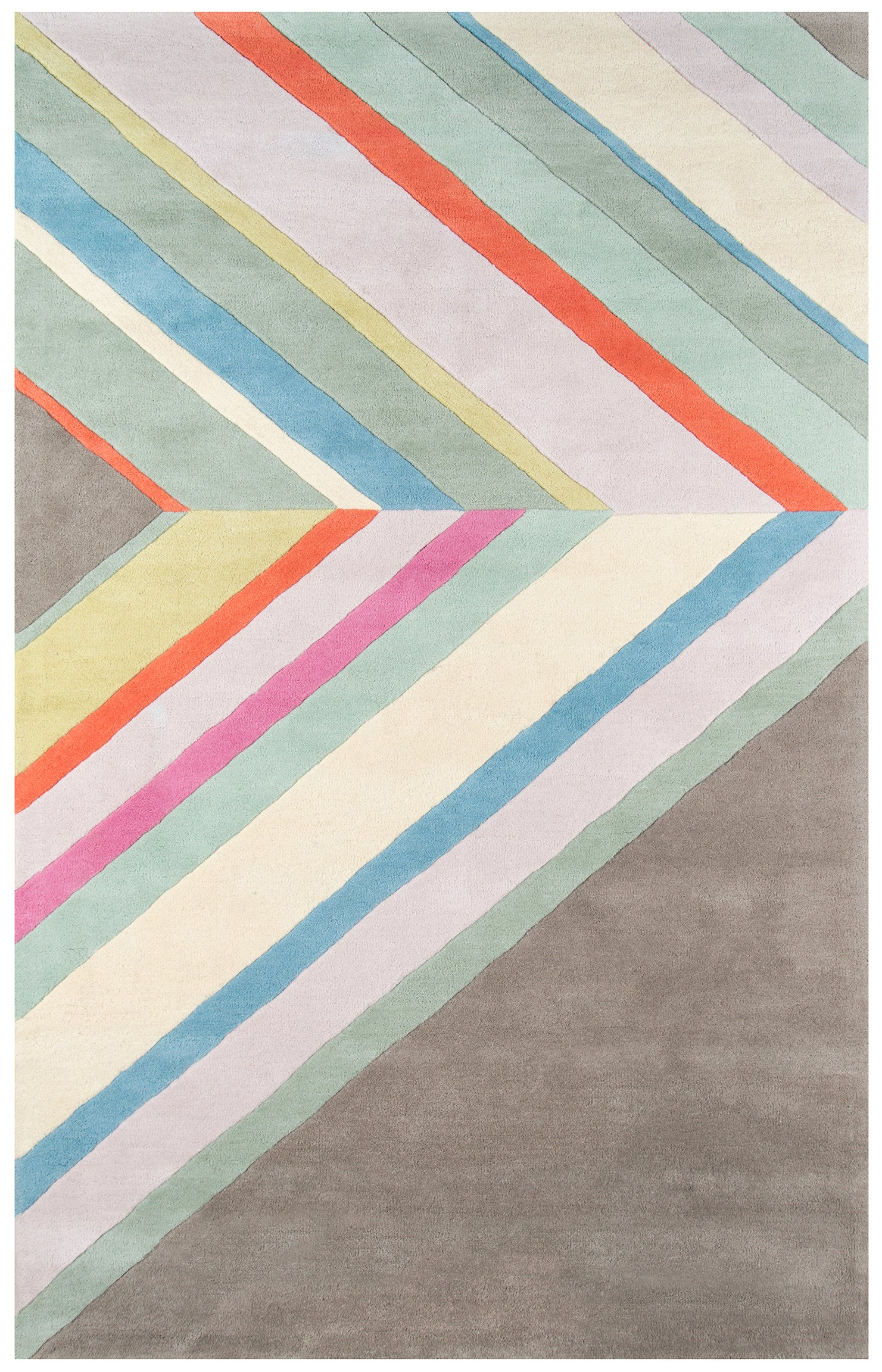 80s Ultralight Style Pink Orange Gray Rug - Novogratz - Del Mar