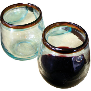 Amber Rim Wine Glasses