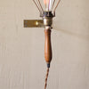 Antique Brass Cage Work Light Style Edison Wall Sconce