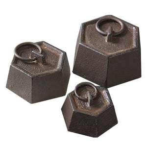 Rustic Cast Iron Desk Paperweights
