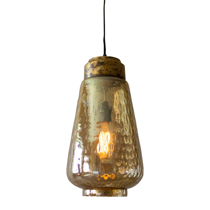 Antiqued Smoked Glass Pendant Light