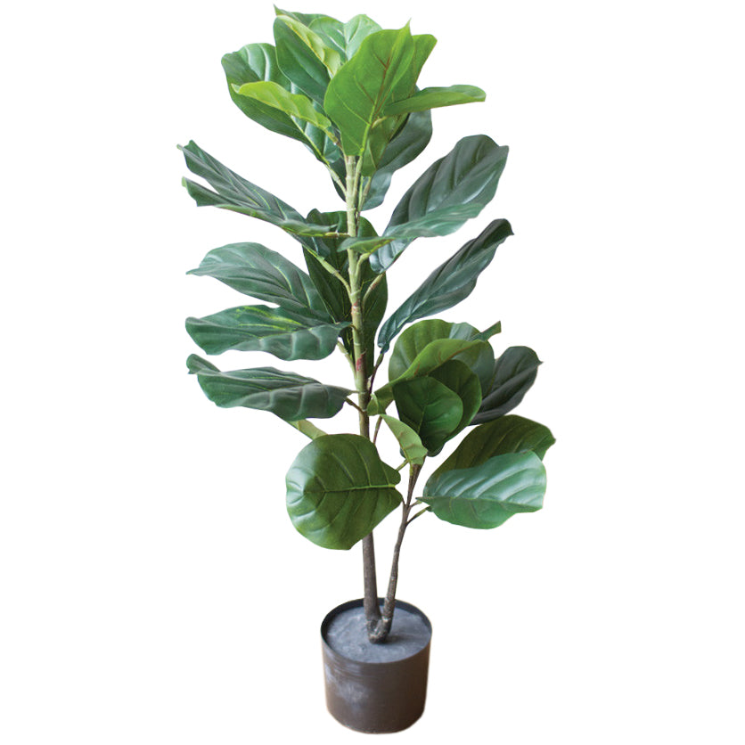 Artificial Faux Fiddle Leaf Fig Plant In a Pot