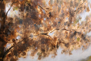 Autumn Tree and Meadow Oil Painting