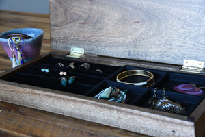 Rustic Solid Wood Jewelry Box