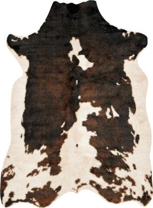 Beige & Dark Brown Cowhide Rug