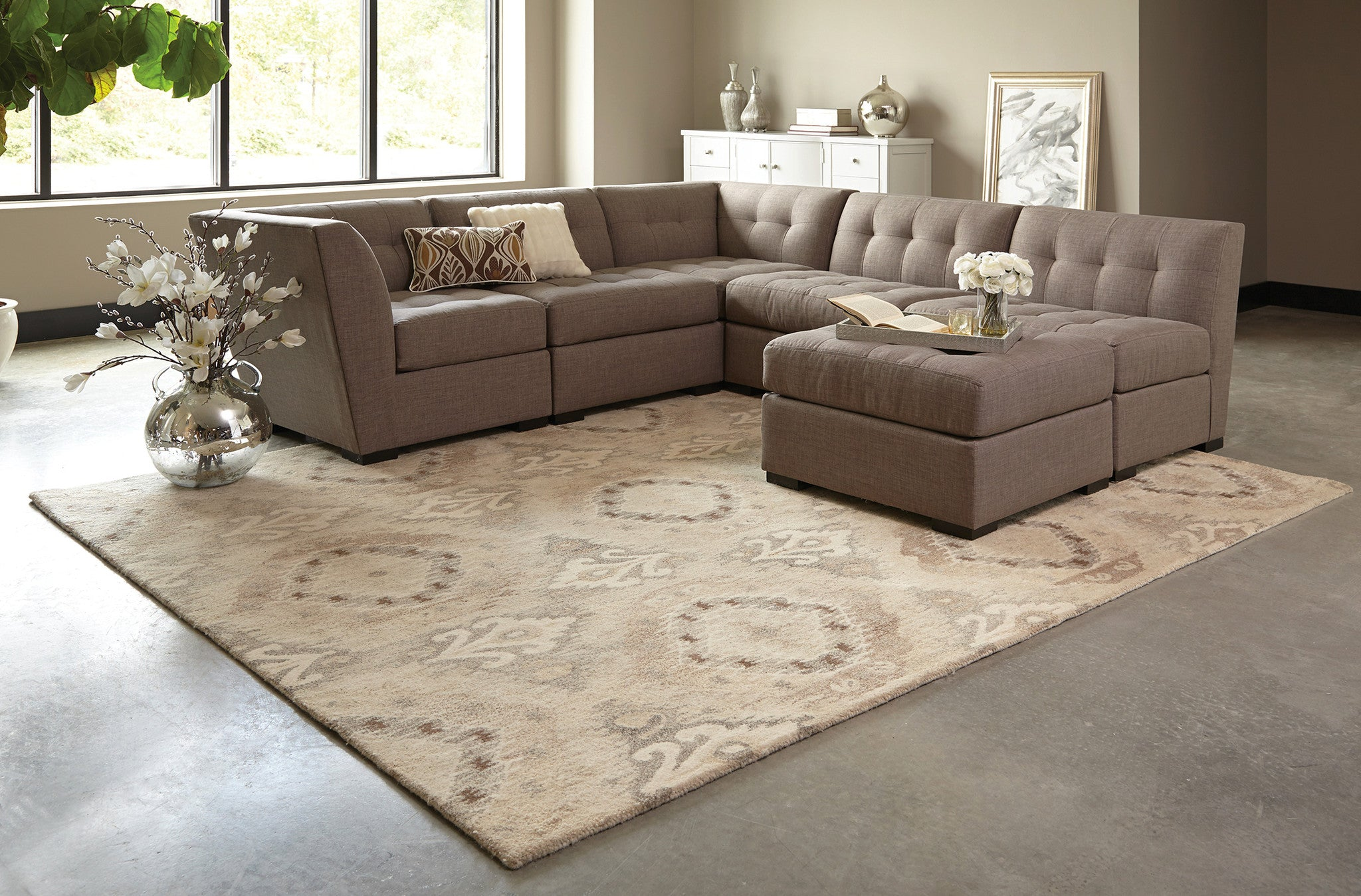 Neutral Area Rugs Woodwaves