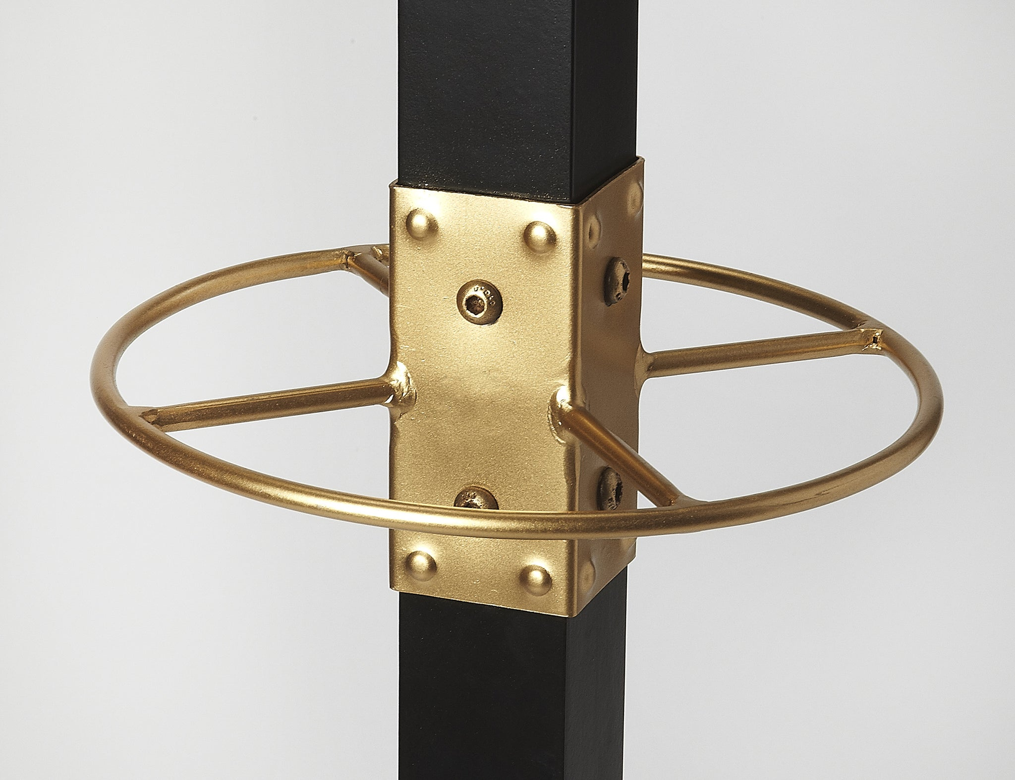 Black and Gold Mid Century Modern Coat Rack