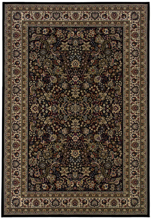 Black Traditional Pattern Rug