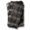 Black and Gray Soft Faux Fur Throw Blanket