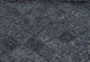 Blue Gray Diamond Pattern Rug - Wool
