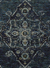 Blue Worn Faded Traditional Vintage Style Rug