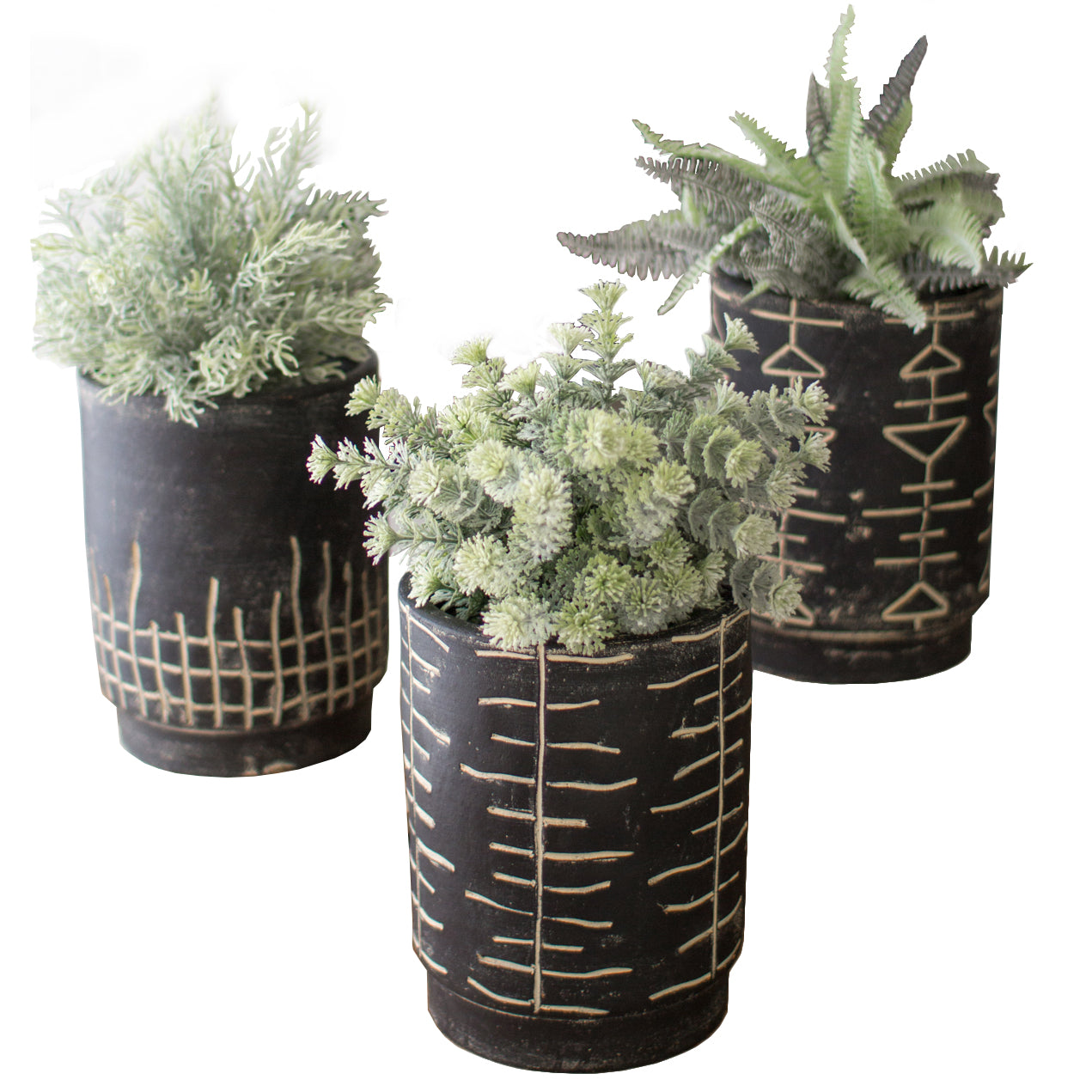 planter blomus amazing savings shopping clay black in planta brown set of shop planters
