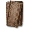 Soft Brown Faux Fur Throw Blanket