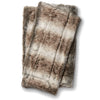 Brown and Gray Soft Faux Fur Throw Blanket
