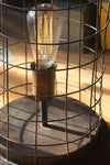 Aged Brass Finish Edison Wire Cage Accent Lamp