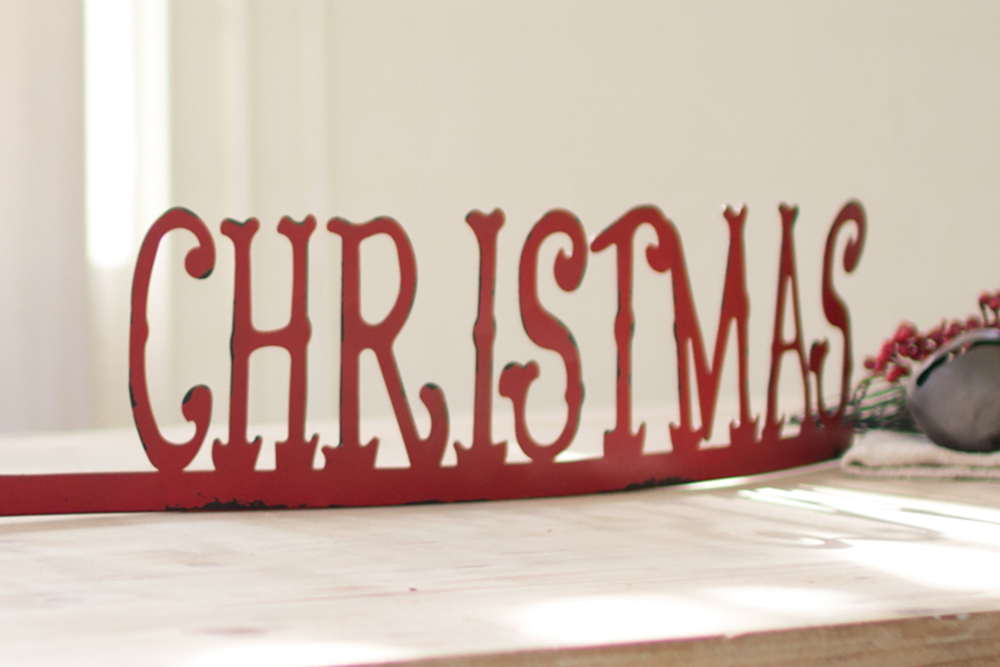 Merry Christmas Mantle Decoration