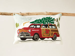 Christmas Woody Embroidered Car Pillow