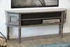Gray Traditional TV Stand Transitional French Cottage Console - Vintage Driftwood Gray