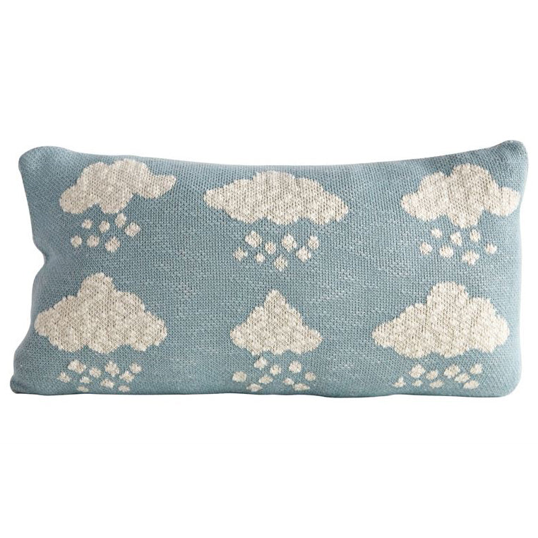 Cotton Knit Kids Trendy Cloud Pillow