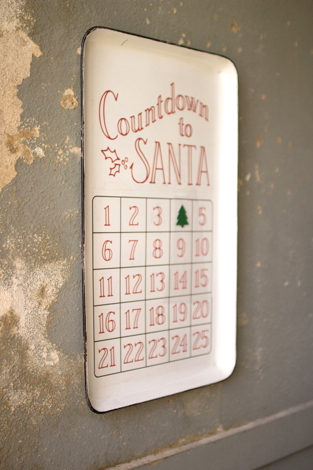 Countdown To Santa Christmas Metal Wall Decor