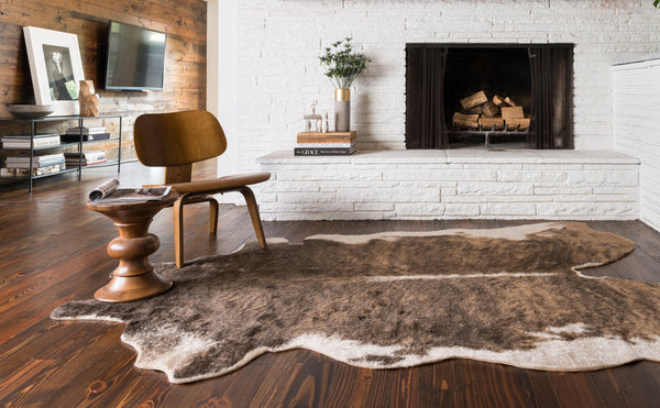 Brown Amp Tan Cowhide Rug Woodwaves