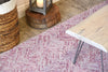 Pink Lavender and White Geometric Wool Rug