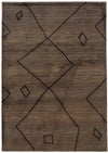 Dark Charcoal Brown Moroccan Pattern Rug