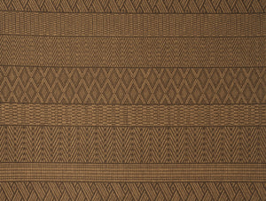 Modern Brown and Tan Multi-Pattern Indoor / Outdoor Rug