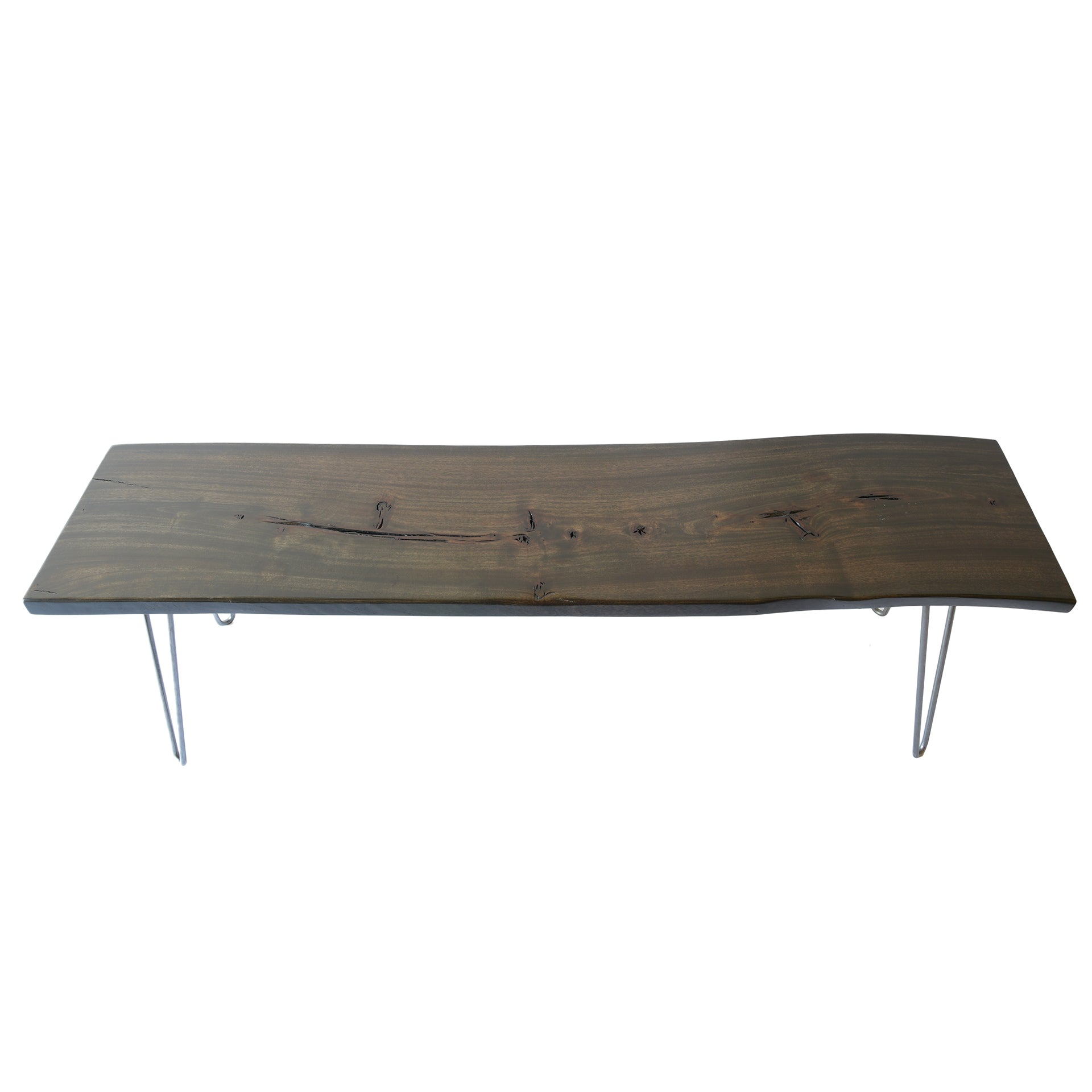 Dark Live Edge Slab Reclaimed Coffee Table