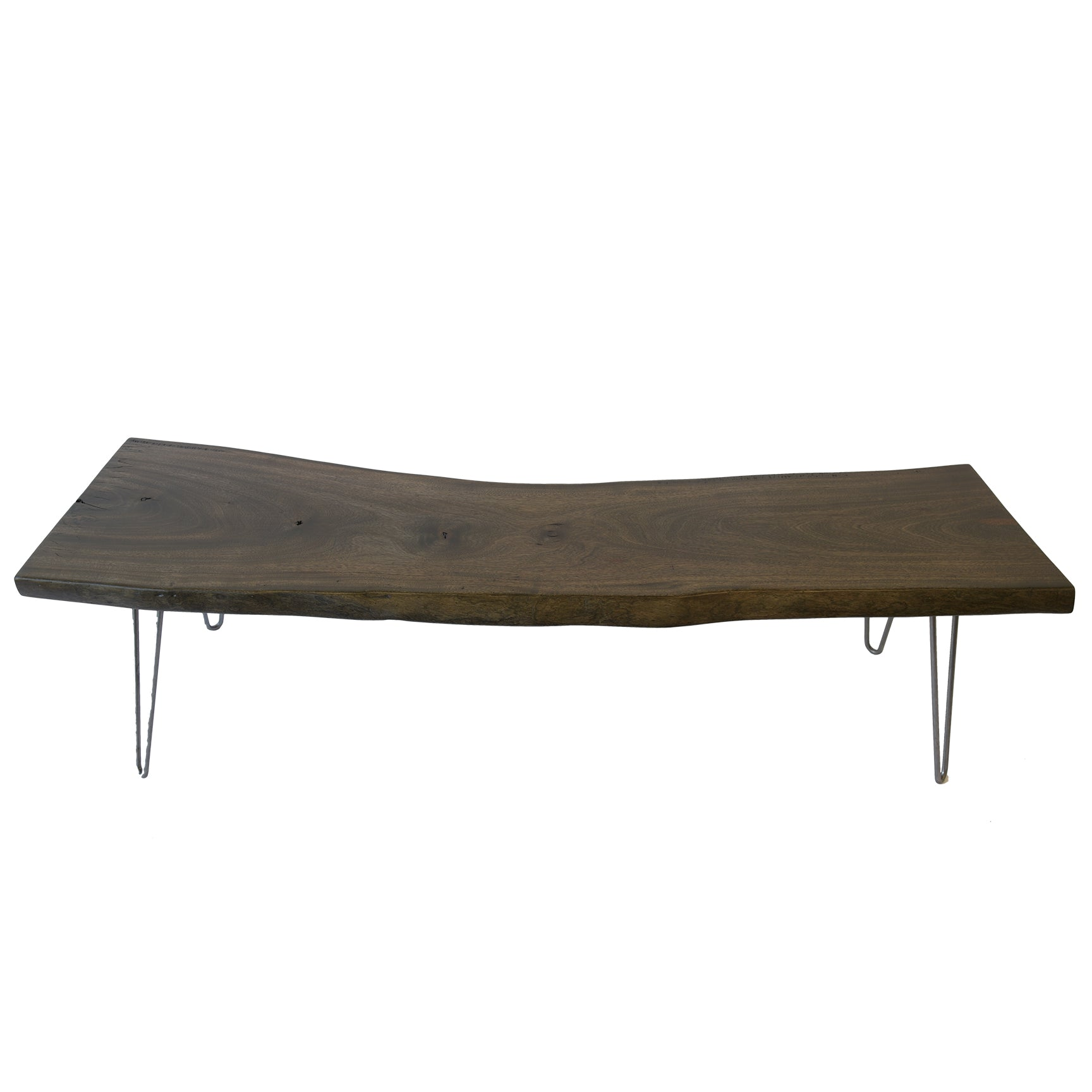 Dark Wood Live Edge Slab Coffee Table