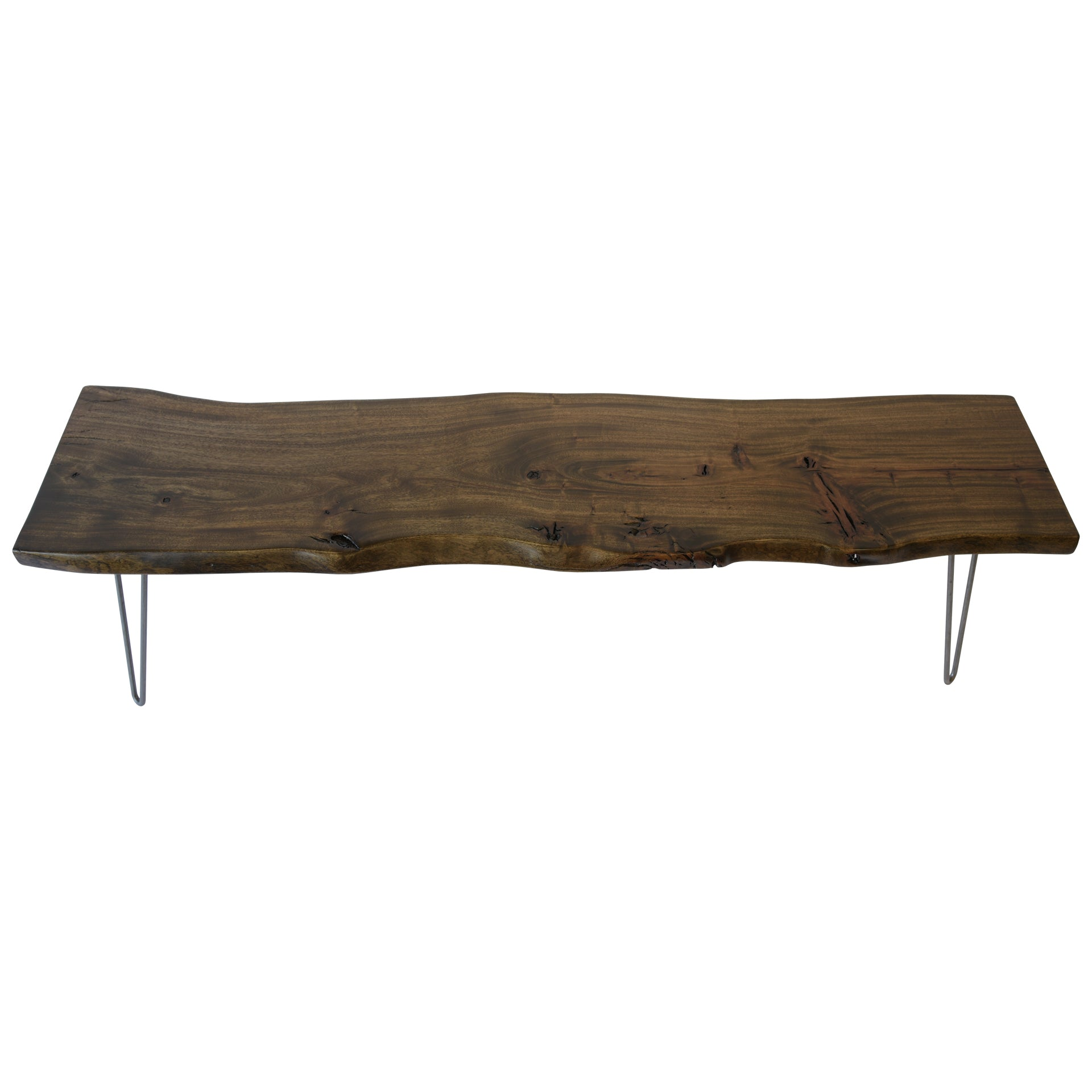 Dark Live Edge Slab Handmade Coffee Table