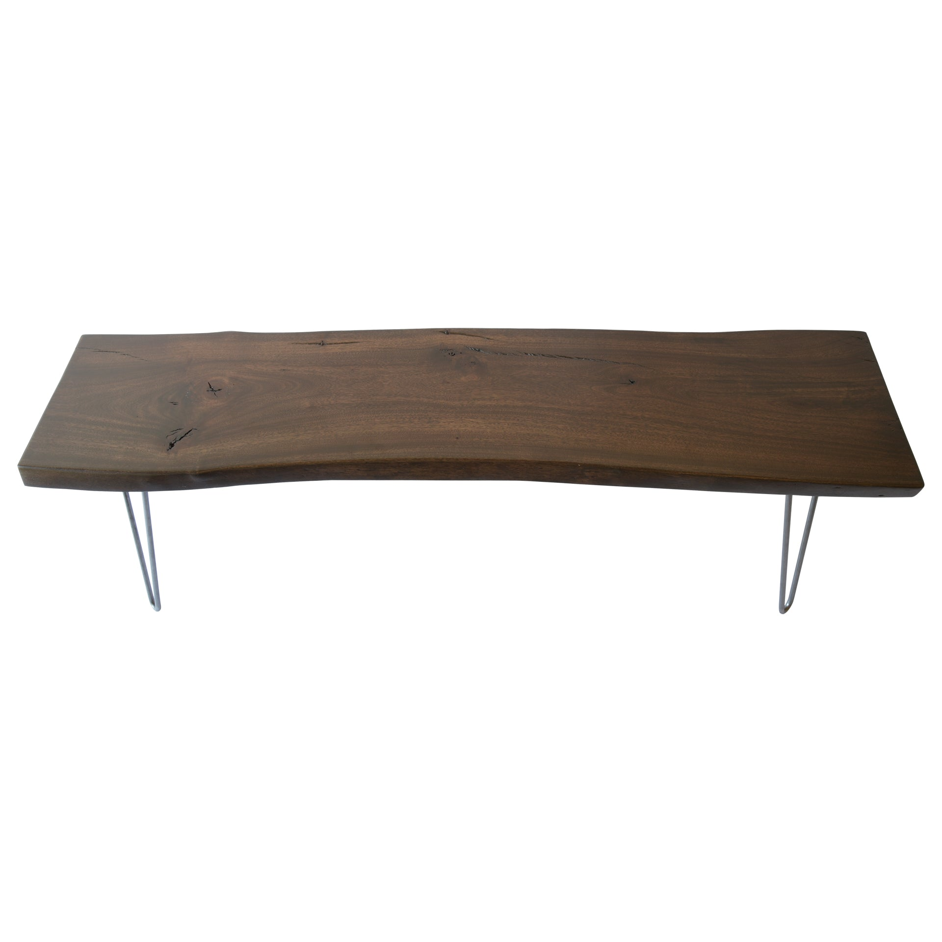 Dark Live Edge Slab Rustic Coffee Table