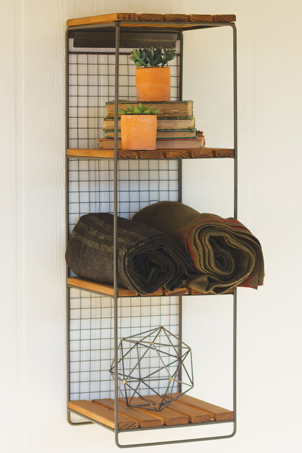 Industrial Modern Hanging Wall Shelf Woodwaves
