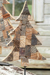 Recycled Wood Printing Block Christmas Tree