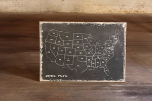 USA United States Rustic Farmhouse Wall Art