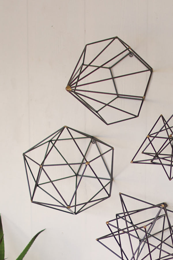 Geometric Metal Wire Wall Art Set Of 6 Woodwaves