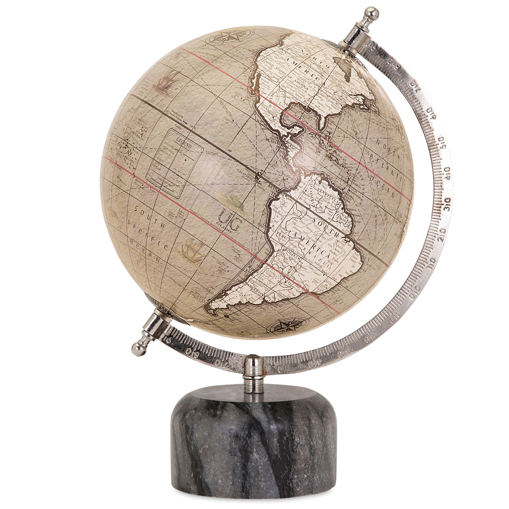 Decorative Globe With Marble Base