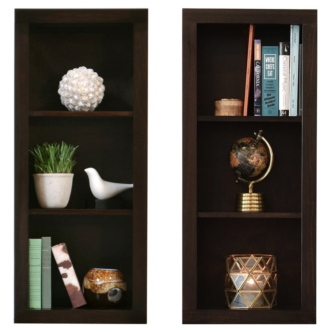 ECO GEO Bookcases - Espresso - Set of 2