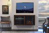 Floating Electric Fireplace TV Stand - ECO GEO Mocha