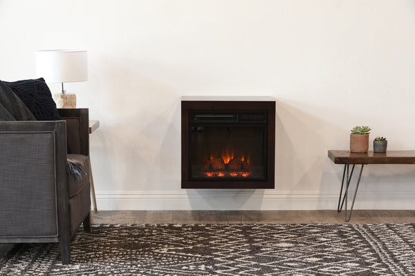 Floating Wall Mount Electric Fireplace Heater Eco Geo