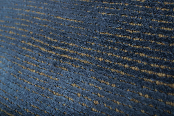 Faded Indigo Blue Wool Area Rug Woodwaves