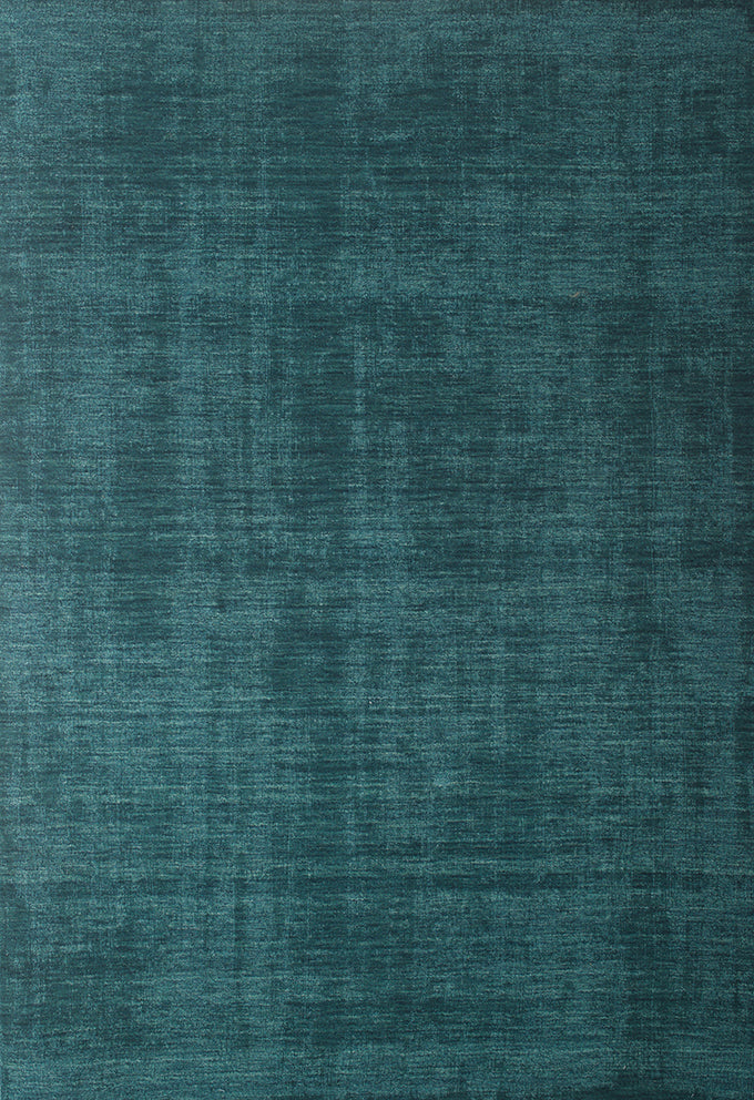 Modern Faded Teal Blue Wool Area Rug Woodwaves