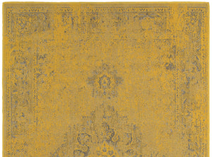 Faded Yellow Overdyed Rug