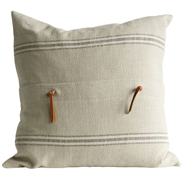 Farmhouse Cottage Striped Cotton Pillow