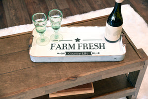 Farmhouse Rustic Serving Trays - Set of 2