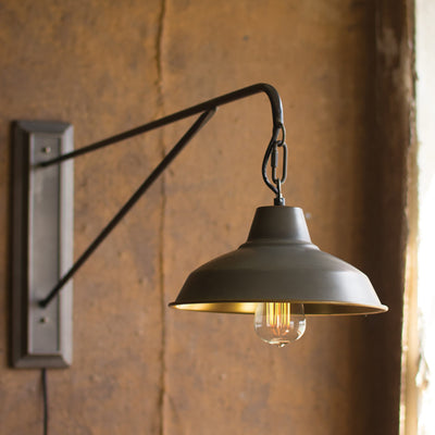 Farmhouse Industrial Modern Plug In Wall Sconce - Woodwaves