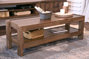 Rustic Reclaimed Farmhouse Pallet Wood Style Coffee Table - presEARTH Spice