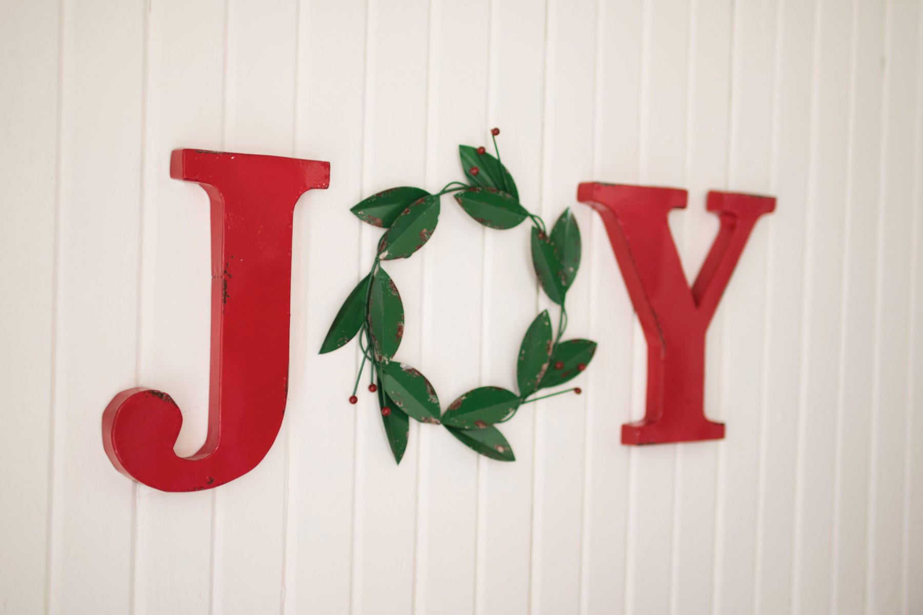 Metal Joy Christmas Wall Decor