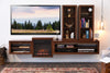 Fireplace TV Stand - ECO GEO Mocha